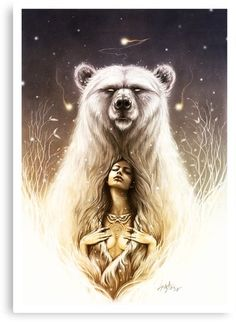 """Bear Spirit"" The shaman recall.I am a Native American Mama Bear. Bear Spirit Animal, Spirit Bear, Native Art, Native American Indians, Ours Grizzly, Native Tattoos, American Tattoos, Bear Art, Body Art Tattoos"