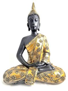 THAI BUDDHA FIGURE GOLD BUDDHA SCULPTURE 40CM DECORATION - Tinas Collection - The different design Buy this and much more home & living products at http://www.woonio.co.uk/p/thai-buddha-figure-gold-buddha-sculpture-40cm-decoration-tinas-collection-the-different-design/