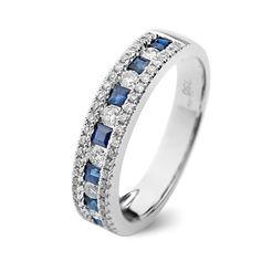 Safire engagement ring / Inel cu safire si diamante C107