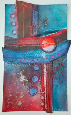 CONVERSATIONS Mixed Media Painting by Valerie Armstrong