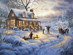 Ewa w malarstwie noworoczny. Krajobrazy. Dyskusja na temat liveinternet - Rosyjski serwis internetowy Diaries