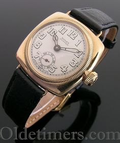 A rare early 9ct gold cushion Rolex Oyster watch, 1927