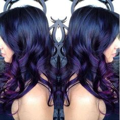 beautiful deep blue  and purple  #colormelt by @isacc_huerta