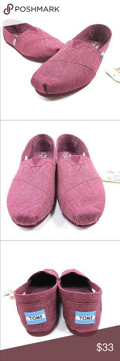 TOMS Burgundy Earthwise Size 6 Slip On Shoes TOMS Burgundy Earthwise Size 6 Slip On Shoes Toms Shoes