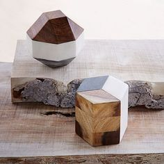 Marble + Wood Geometric Objects #westelm