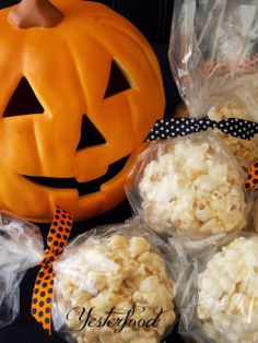 Yesterfood : Caramel Popcorn Balls.....Making these for my little Trick or Treaters tonight!!!