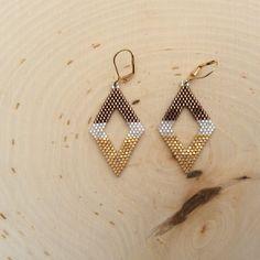 Delica Beaded Earrings Salted Carmel
