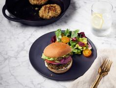 Served stacked or on a platter, these vegan and gluten-free burgers are easier to make than they look.