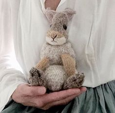 Ravelry: Rabbit pattern by Claire Garland Knitting Kits, Baby Knitting, Knitting Ideas, Crotchet Patterns, Knitting Patterns, Instagram Gallery, Youtube How To Make, Little Cotton Rabbits, Crochet Bear