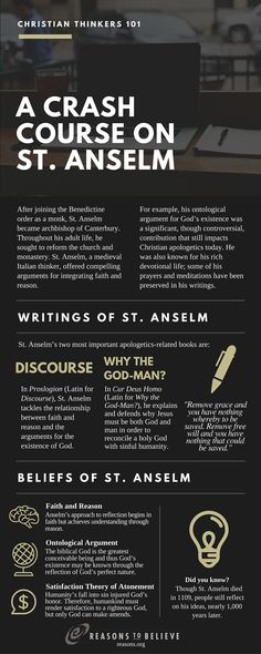 Reasons To Believe : Christian Thinkers 101: A Crash Course on St. Anselm