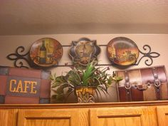 Plant shelf decor idea