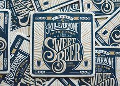 Beer Press: Letterpress Coaster Collection - Joe Ross, Simon Alander, Ryan Brinkerhoff, Nathan Mummert, Scott Greci & David Stuebe