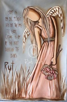 Like this!! Stone Painting, Painting & Drawing, Creation Art, Angel Pictures, Angels Among Us, Angel Art, Painted Rocks, Amazing Art, Fantasy Art