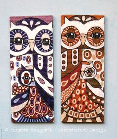 2 cute Owl magnets  Gift set by carambatack on Etsy,