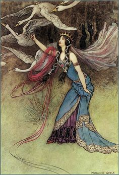 "Warwick Goble ""The Six Swans"" from The Fairy Book (1913)"