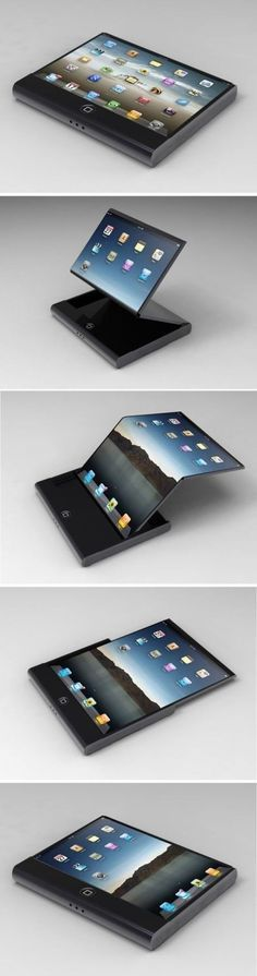 Apple flexible display concept is a new vision of the Apple future devices with flexible display (Cool Pictures Iphone) High Tech Gadgets, Gadgets And Gizmos, New Gadgets, Cool Gadgets, Futuristic Technology, Cool Technology, Technology Gadgets, Latest Technology, Concept Phones