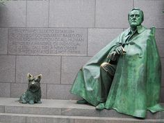 FDR and Fala, FDR Memorial, DC.    I may not love 100% of his politics, but this memorial is beautiful.