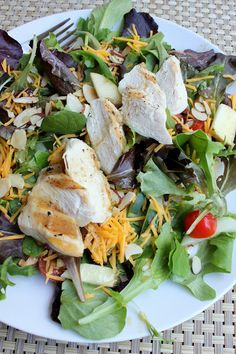 Cranberry-Almond Grilled Chicken Salad