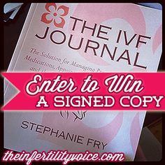 A new giveaway for The #IVF Journal! @KeikoZoll @TheIVFJournal