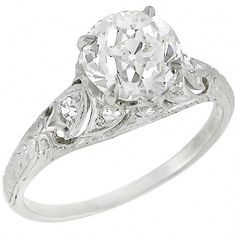Antique 1.55ct Old European Cut Diamond Platinum Engagement Ring - See more at: http://www.newyorkestatejewelry.com/engagement-rings/edwardian-1.55ct-diamond-platinum-engagement-ring/24517/3/item#sthash.6oaBRKvY.dpuf