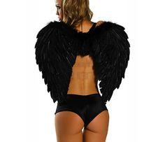 Skrzydła anioła 80x55cm czarne na imprezę   Przebrania   Upominki24.com