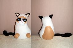 Grumpy Cat Plush Instant Download PDF Pattern by LittleCrickets