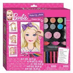 Barbie Make-Up Artist Sketch Set. Practice your make-up application skills on the Barbie Sketch pad! Barbie Make-up, Digital Makeover, Fashion Angels, Best Makeup Artist, Cheap Toys, Project Runway, Craft Kits, Toys For Girls, Cool Toys