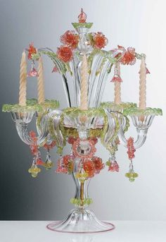 Murano Italian Glass Decor Lights, Lighting, Lamps and more - Italian Glass Murano Table Lamp Verdi.
