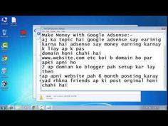 Make Money with Google Adsene