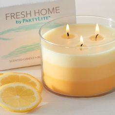 Fresh Home 3-Docht-Duftwachsglas, mehrfarbig Fresh Zitrus-Nektar