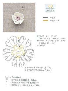 Crochet flowers. No pattern, b