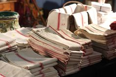 French antique linens. love.
