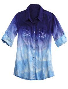 Dye Effect Woven Shirt | Girls Shirts Clothes | Shop Justice