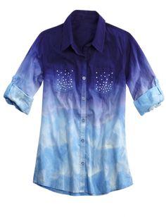 Dye Effect Woven Shirt | Girls Shirts Clothes | Shop Justice