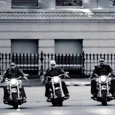 Dad & the boys on their Harley Davidson's  by # Tilnak