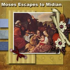 #Free #Bible Lessons & #Lapbooks: Exodus/Passover: Moses Escapes to Midian Lesson