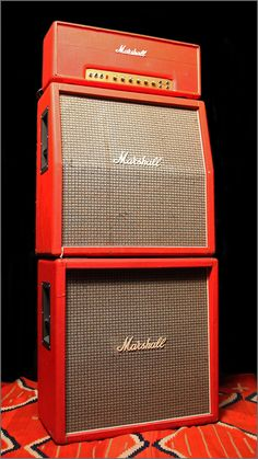 "1972 Marshall JMP Full Stack ""Red"" Vintage Electric and Acoustic Guitars In Albuquerque, Ithaca and Carmel"