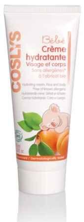 Morelowy krem do twarzy i ciała dla niemowląt i dzieci Coslys. Bez alergenów! Za to z organicznym olejem z pestek moreli i wodami kwiatowymi. Nawilża i działa przeciwzapalnie.