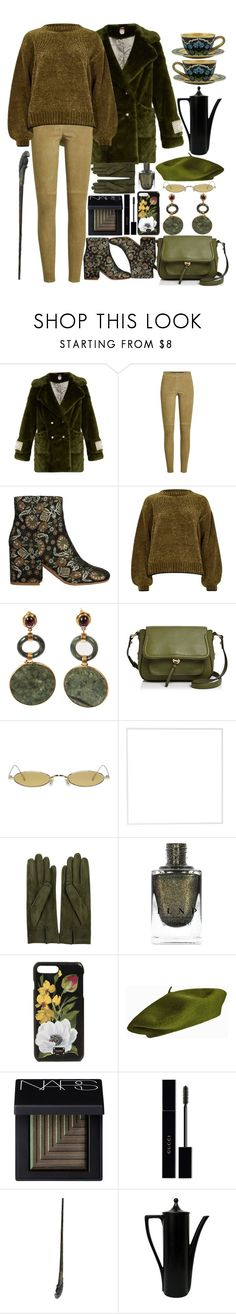 """Green Tea"" by i-reti-illustration ❤ liked on Polyvore featuring Shrimps, Steffen Schraut, Kenneth Cole, River Island, Annabel Ingall, Gentle Monster, Menu, Sermoneta, Dolce&Gabbana and NARS Cosmetics"