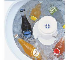 Washing machine used as beverage cooler