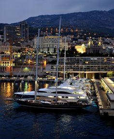 Monaco (Monte Carlo to be precise) as night falls.