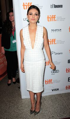 Mila Kunis arriving at the premiere of Third Person during the 2013 Toronto International Film Festival at The Elgin in