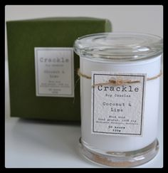 Crackle Soy Candles are 100% soy, wood wick candles that care for our environment. Our labels are made from seeded paper that turn into daisies and all packaging is 100% recycled.