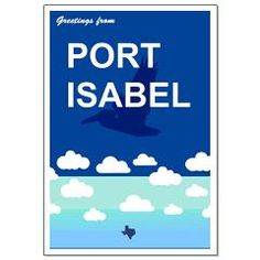 Port Isabel - Texas. Small Poster