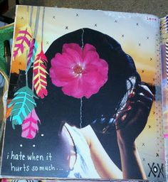 Kelly Kilmer Artist and Instructor: i hate it when it hurts so much--this is the quality of art journal I would like to do if I ever create art again.