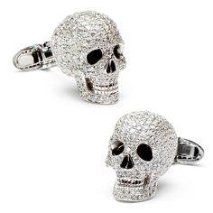 Jacob & Co Diamond Skull Cufflinks