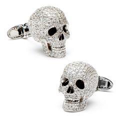 Jacob & Co Diamond Skull Cufflinks