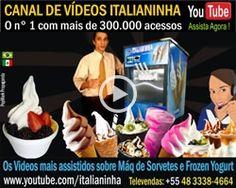 Mundo Gelado - Máquinas Italianinha de Sorverte Expresso e Frozen Yogurt