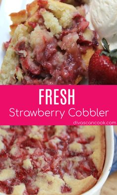 Strawberry Desserts Discover Fresh Strawberry Cobbler Recipe- Easy Dessert Fresh strawberries and a fluffy crust makes this strawberry cobbler the best! Easy to make simple ingredients goes great with vanilla ice cream. Fresh Strawberry Desserts, Strawberry Cobbler, Recipes With Fresh Strawberries, Strawberry Cobler Recipe, Strawberry Pie Recipes, Stawberry Pie, Strawberry Ideas, Strawberry Muffins, Strawberry Picking