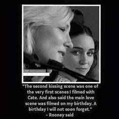 We won't be forgetting it either • • • #carol #therese #thepriceofsalt #cateblanchett #rooneymara #movie #film #art